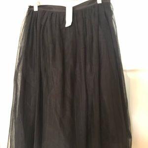 Bebe Pleated tulle skirt